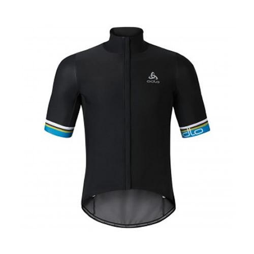 86e0b4f348ba v15.gr-Mens Vlaanderen Stand-Up Collar S S Full Zip Black Royal Blue ...