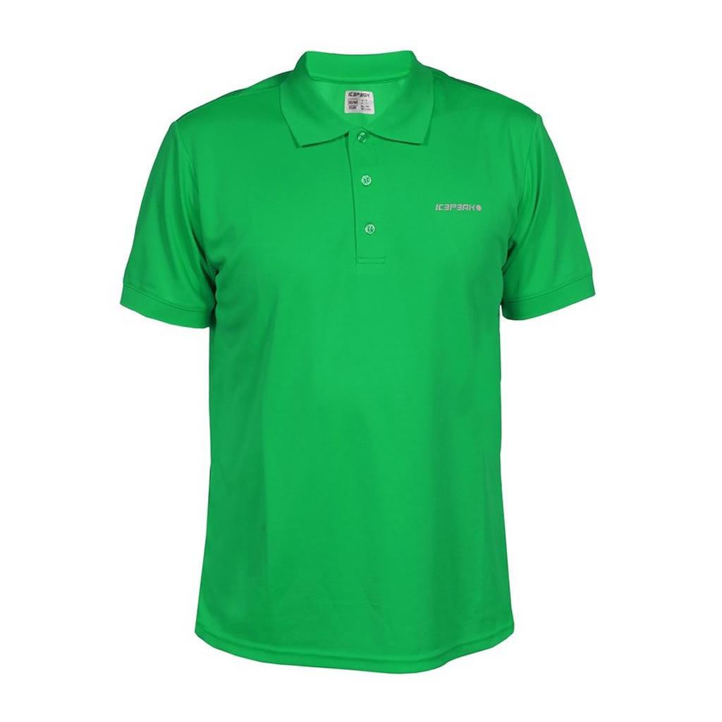 v15.gr-Mens Kyan Polo T-shirt Green 57717-540-Icepeak 59d95923046