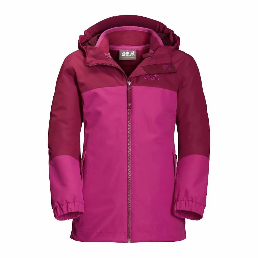 959e2e5b149 Girls Iceland 3-In-1 Jacket Fucshia · Jack Wolfskin. Παιδικό Αδιάβροχο  Μπουφάν με Αποσπώμενη Μόνωση 1605263-2047